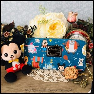 Loungefly Disneyland Park Attraction Mini Wristlet